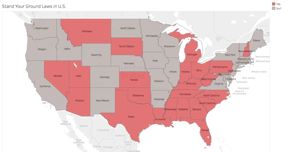 Self Defense Laws By State